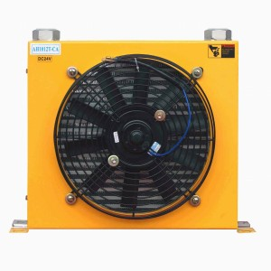 hydraulic oil cooler for mobile machinery