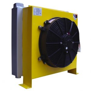 hydraulic oil cooler with DC motor at IP68 grade is well applied at outdoors.