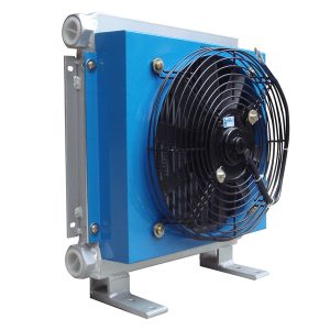 Hydraulic fan motor oil cooler